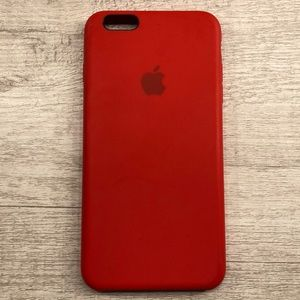 apple product red silicone iphone 6 plus case